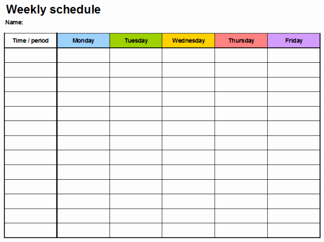 Weekly Planner Template for Teachers New Weekly Planner Template