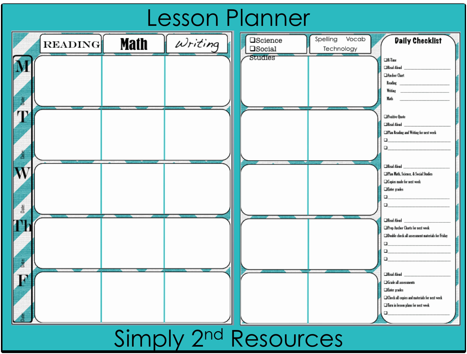 Weekly Planner Template for Teachers Unique Daily Teacher Planner Template 13 Heegan Times