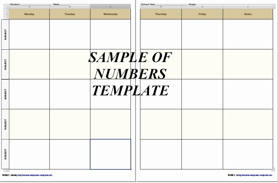 Weekly Planning Template for Teachers Awesome Free Homeschool Planner Pages In Iwork 09 formats now