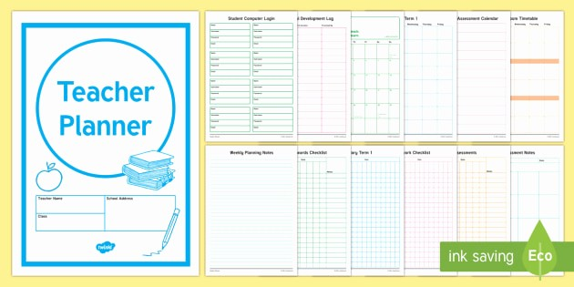 Weekly Planning Template for Teachers Awesome Teacher Planner Planner Planning Teacher Timetable