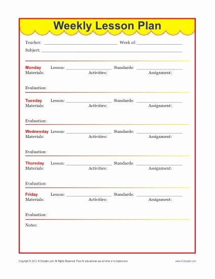 Weekly Planning Template for Teachers Awesome Weekly Detailed Lesson Plan Template Elementary