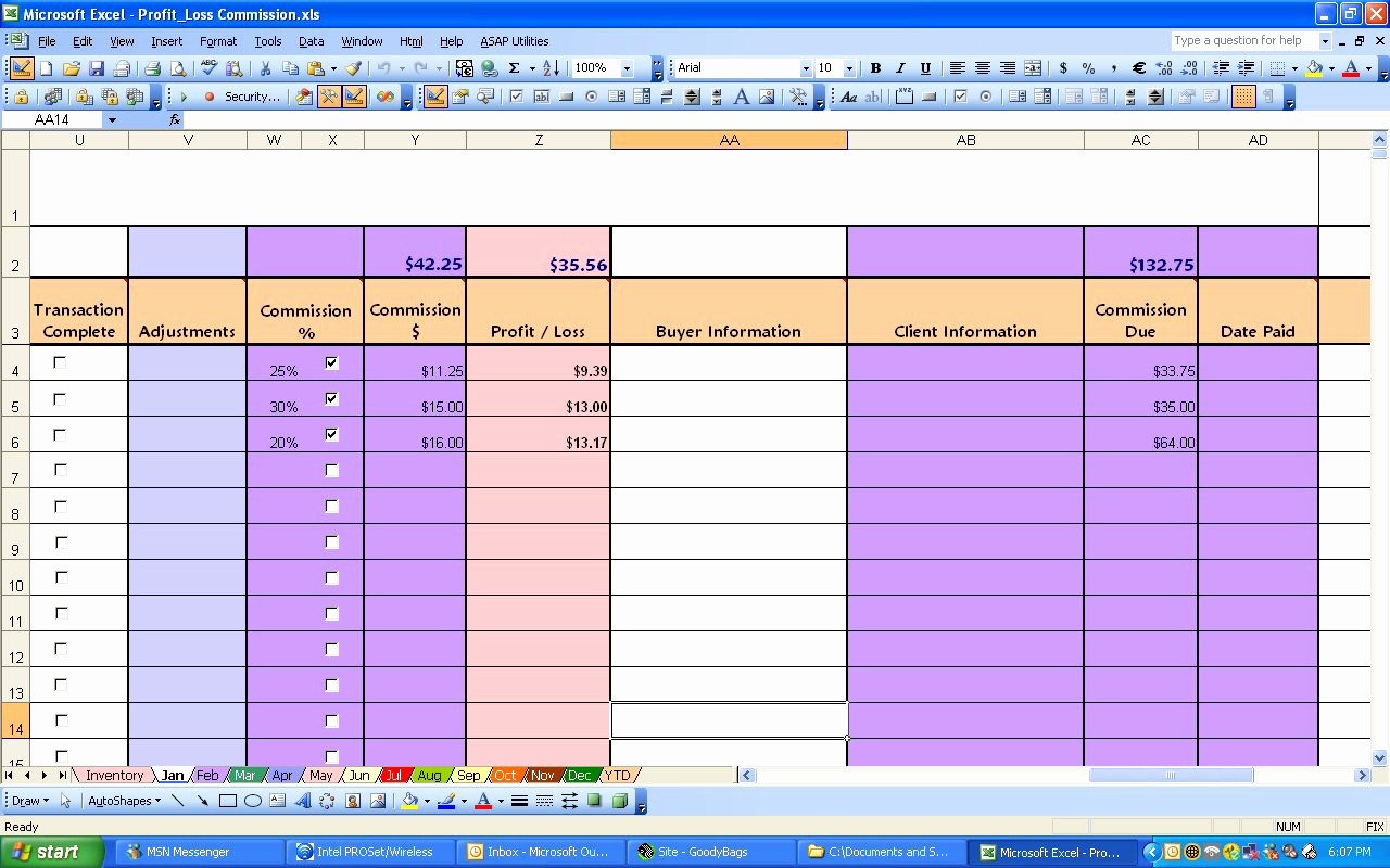 Weekly Profit and Loss Template Beautiful Ebay Profit & Loss with Mission Excel Spreadsheet