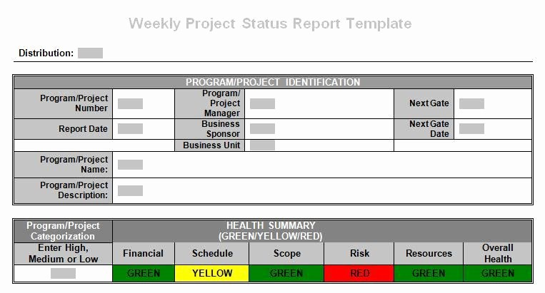 Weekly Project Status Report Templates Awesome Tronmaster On Project Weekly Status Report