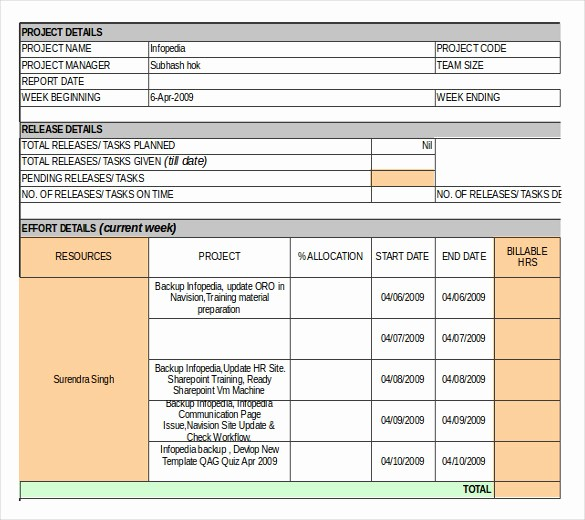 Weekly Project Status Report Templates Best Of 18 Inventory Report Templates – Free Sample Example
