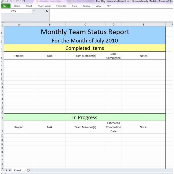 Weekly Project Status Report Templates Best Of 23 Of Example Business Team Update Template