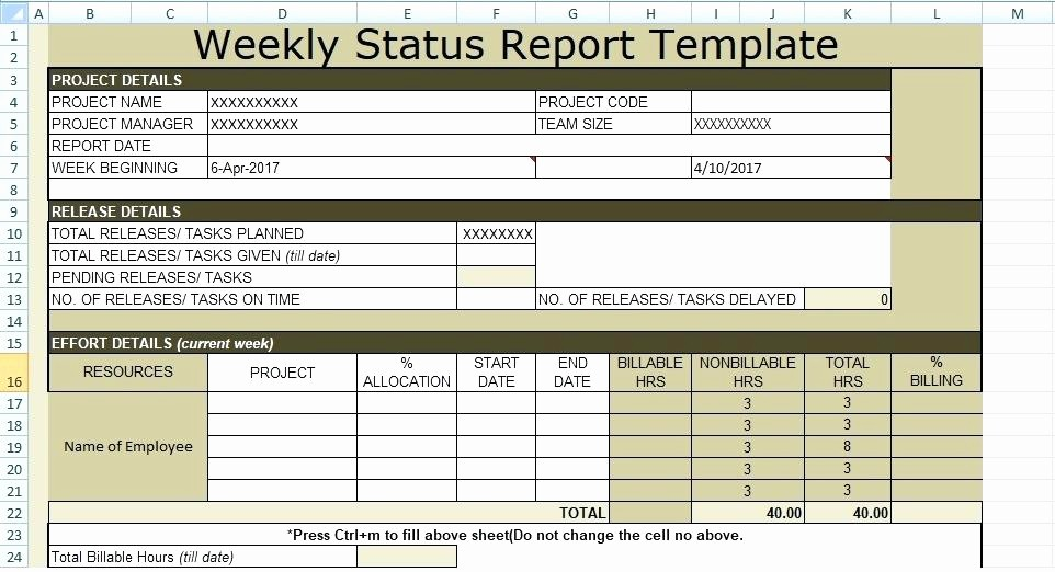 Weekly Project Status Report Templates Luxury Excel Status Report Template Fun Excel Projects Create