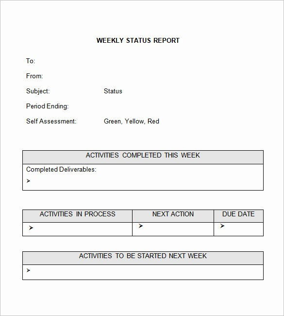 Weekly Project Status Report Templates New Weekly Status Report Templates 27 Free Word Documents
