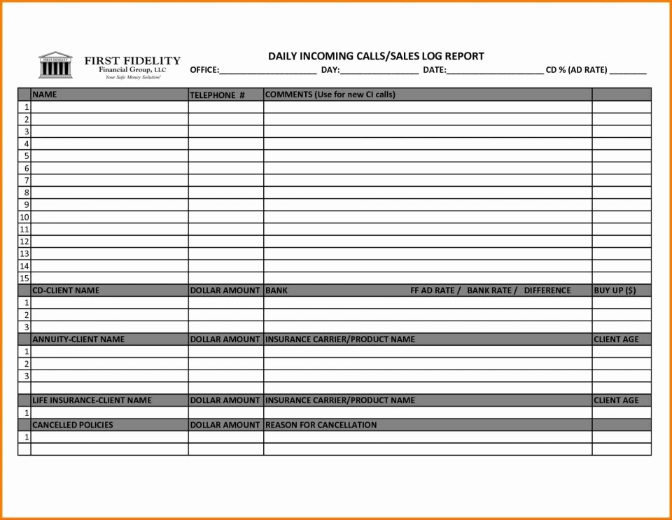 Weekly Sales Call Report Template Fresh Sample Sales Call Report