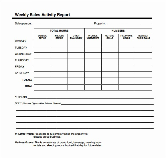 Weekly Sales Call Report Template Lovely 12 Sales Call Report Sample – Free Examples & format