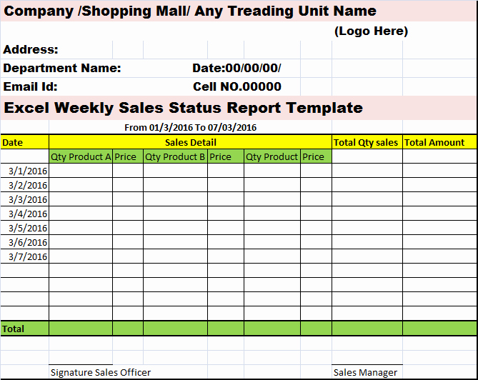 Weekly Sales Call Report Template Luxury Collection Of Free Report formats and Examples