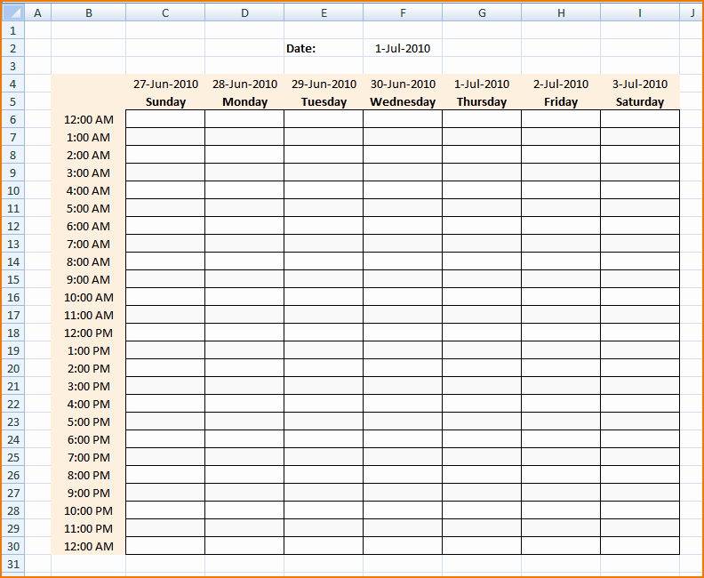 Weekly Schedule Template with Hours Best Of 4 Daily Schedule Maker