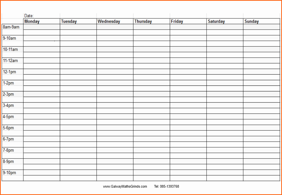 Weekly Schedule Template with Time Inspirational 5 Weekly Time Schedule Template Bud Template Letter