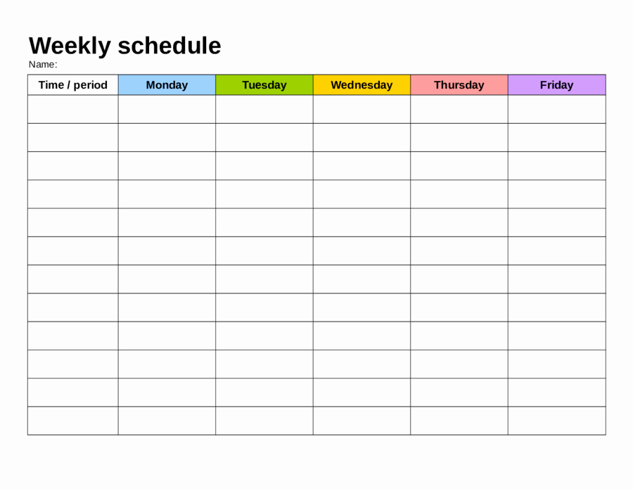 Weekly Schedule with Times Template Elegant 2019 Weekly Planner Template Fillable Printable Pdf