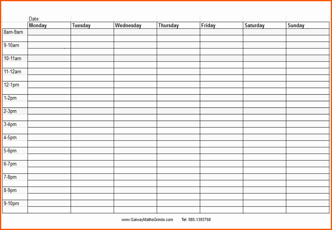 Weekly Schedule with Times Template Fresh Time Template for Schedule Militaryalicious