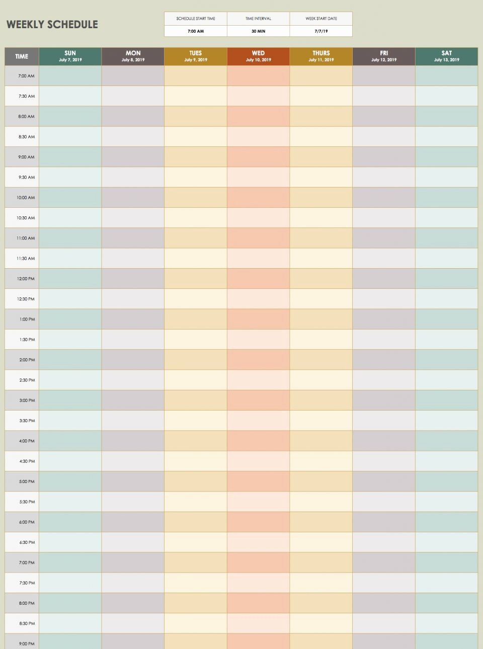 Weekly Schedule with Times Template Inspirational 28 Free Time Management Worksheets