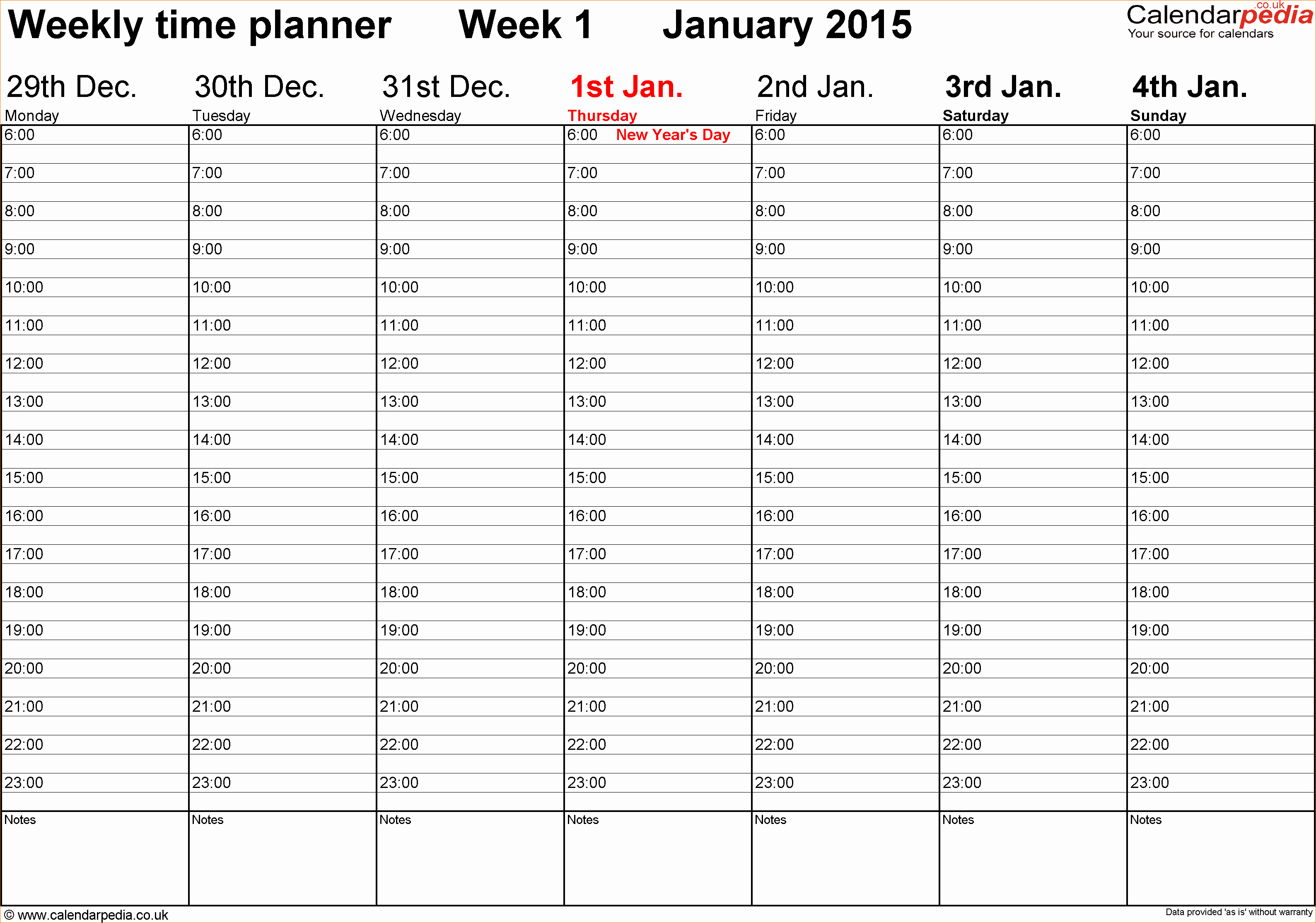 Weekly Schedule with Times Template New 5 Calendar Planner Template