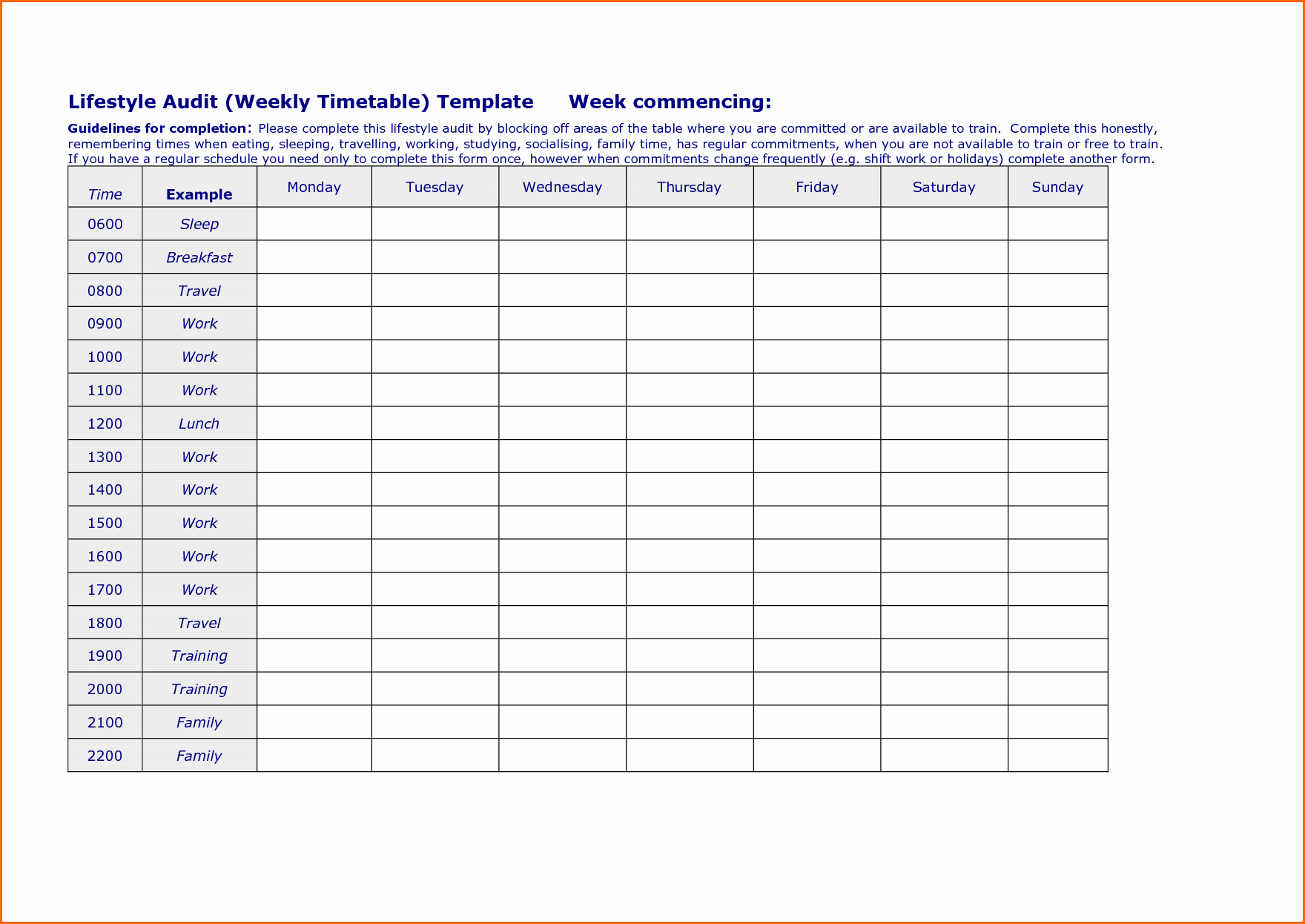 Weekly Schedule with Times Template Unique 6 Weekly Work Schedule Template Bud Template Letter