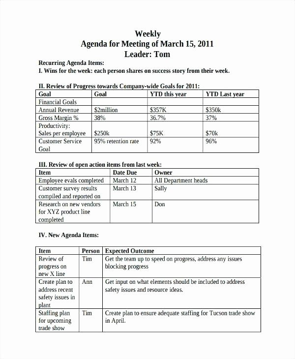 Weekly Staff Meeting Agenda Template Elegant Weekly Employee Shift Schedule Template Free Trade Show