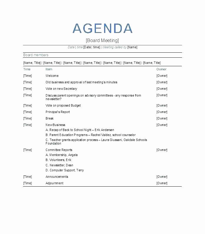 Weekly Staff Meeting Agenda Template Fresh Weekly Staff Meeting Agenda Template Download Free Premium