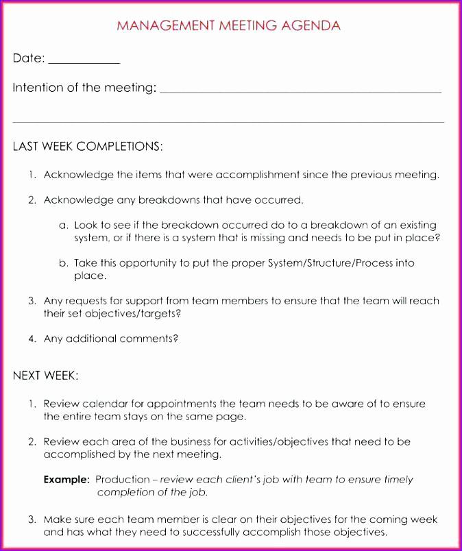 Weekly Staff Meeting Agenda Template Luxury Weekly Team Meeting Agenda Template 9 Samples formats In