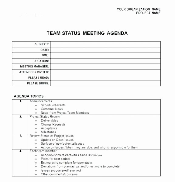 Weekly Staff Meeting Agenda Template Unique Weekly Staff Meeting Agenda Template Download Free Premium