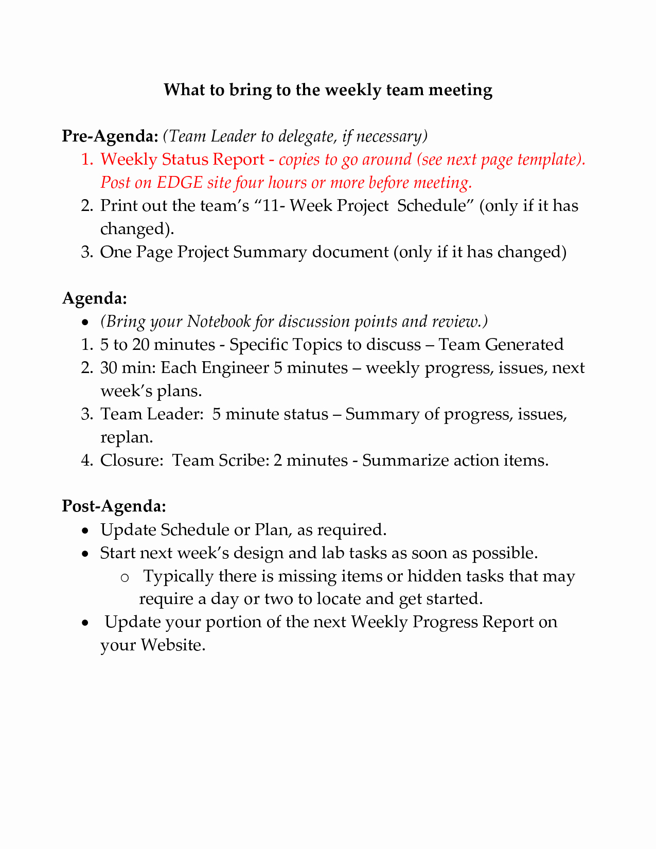 Weekly Team Meeting Agenda Template Awesome Best S Of Weekly Team Meeting Agenda Templates Team