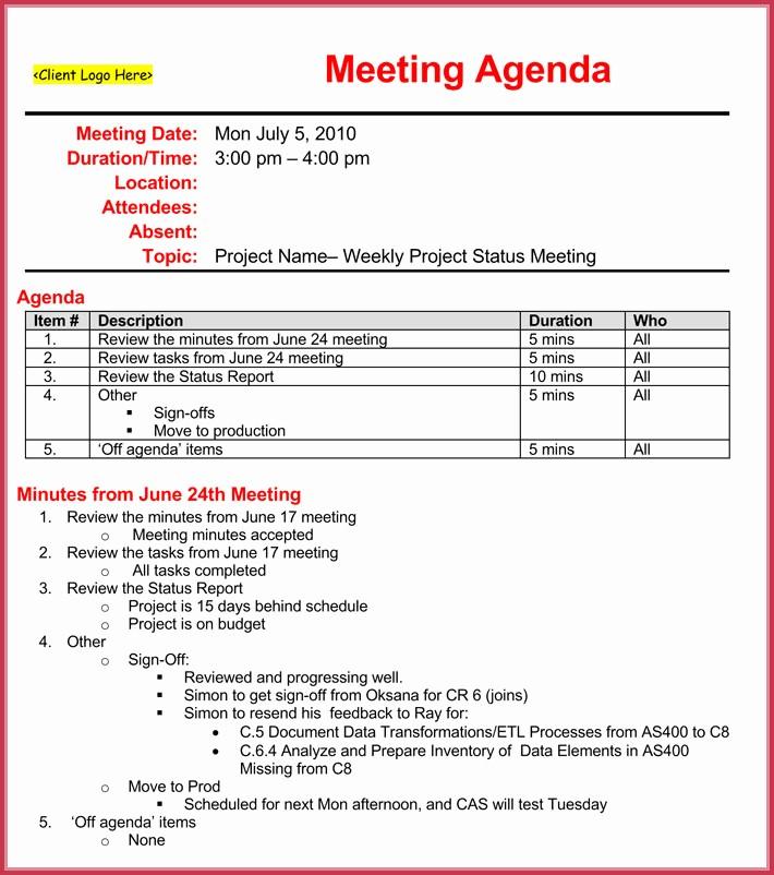 Weekly Team Meeting Agenda Template Lovely Weekly Meeting Agenda Template 9 Samples formats In