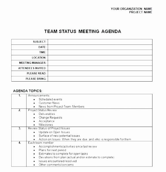 Weekly Team Meeting Agenda Template Lovely Weekly Team Meeting Template – Psychicnights