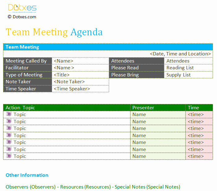 Weekly Team Meeting Agenda Template Luxury Team Meeting Agenda Template Dotxes