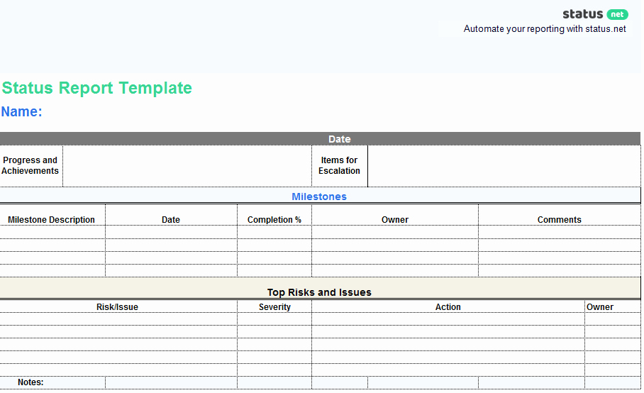Weekly Team Status Report Template Inspirational Best Status Report Templates [25 Free Samples] Status