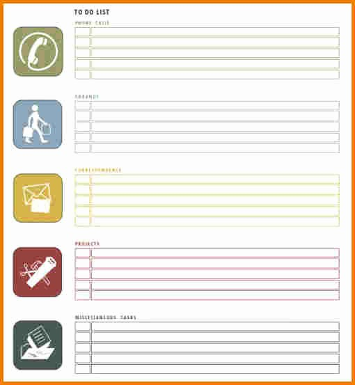 Weekly Things to Do List Fresh to Do List Template Word