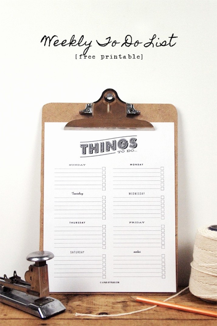 Weekly Things to Do List Inspirational Freebie Time Our Favorite Downloads the Daily Dose