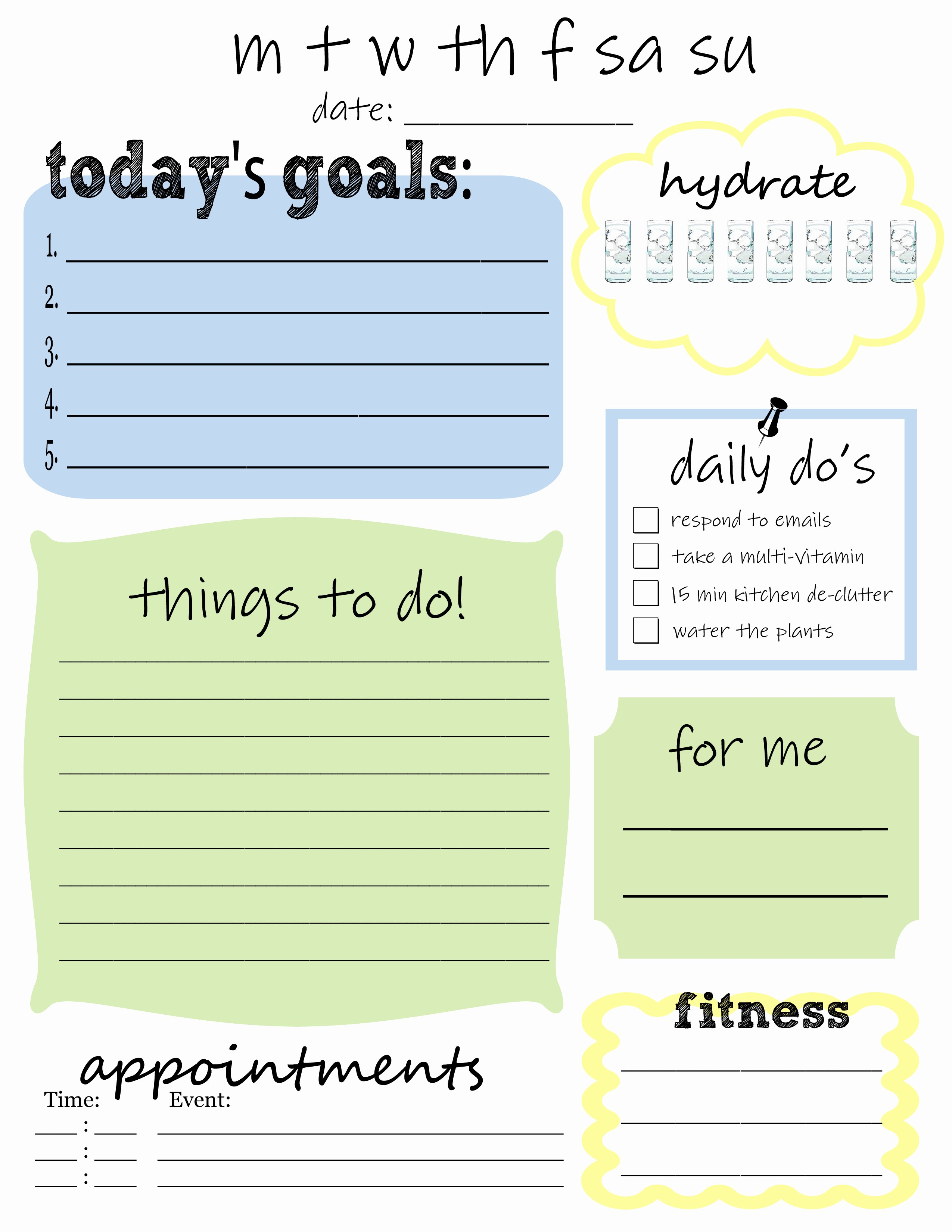 Weekly Things to Do List Unique 25 Printables for organizing Life after Laundry