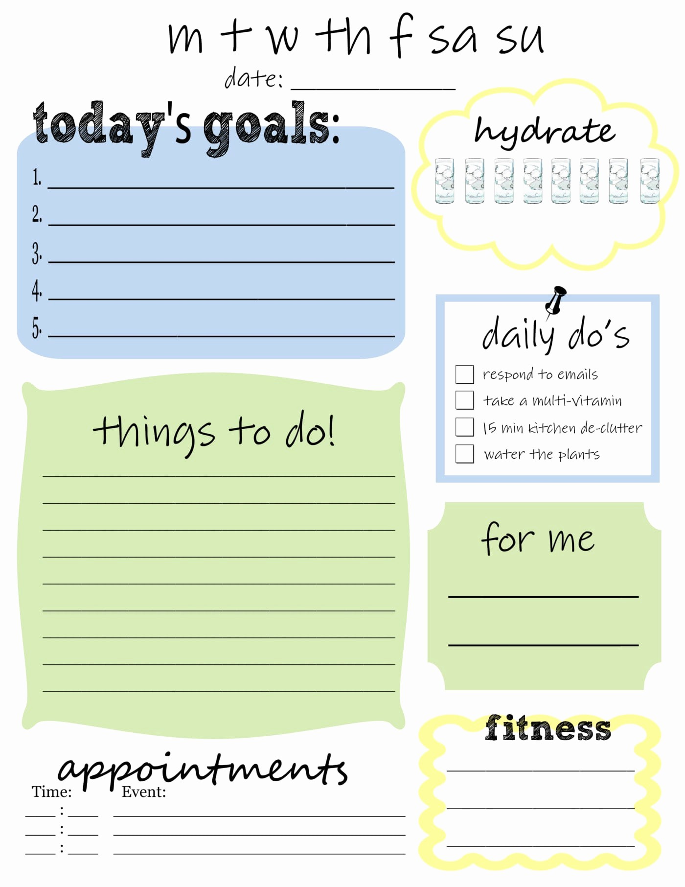 Weekly Things to Do List Unique Free Printable Daily to Do List that S What Che Said