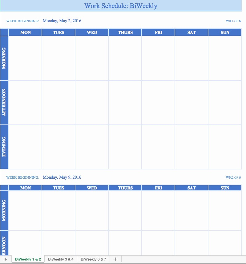 Weekly Time Schedule Template Excel Beautiful Free Work Schedule Templates for Word and Excel