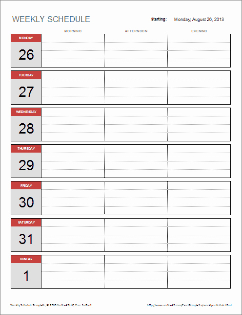 Weekly Time Schedule Template Excel Best Of 6 Weekly Schedule Templates Word Excel Pdf Templates