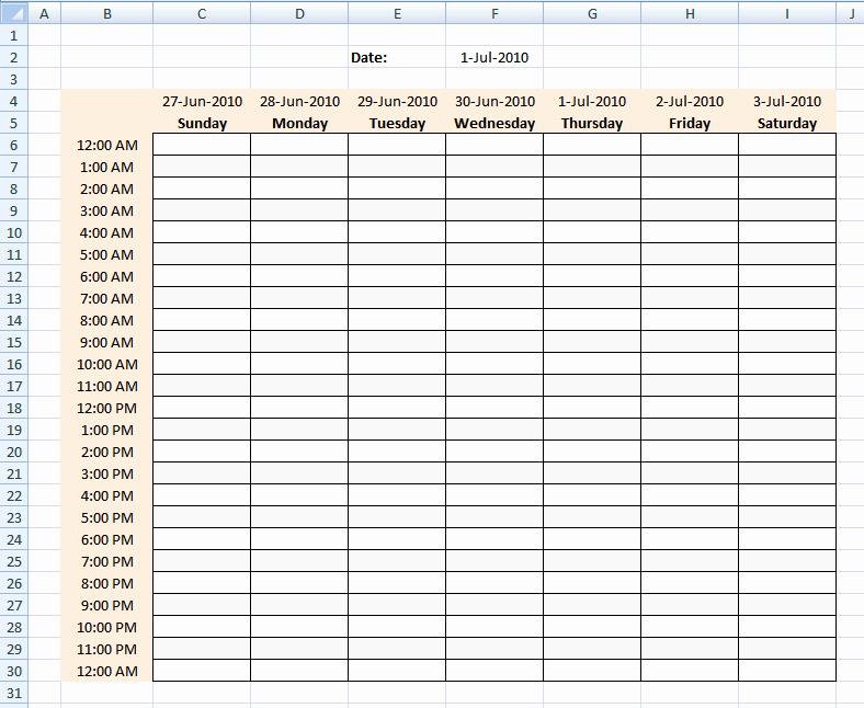 Weekly Time Schedule Template Excel Elegant Fdfspofu Time Schedule Template