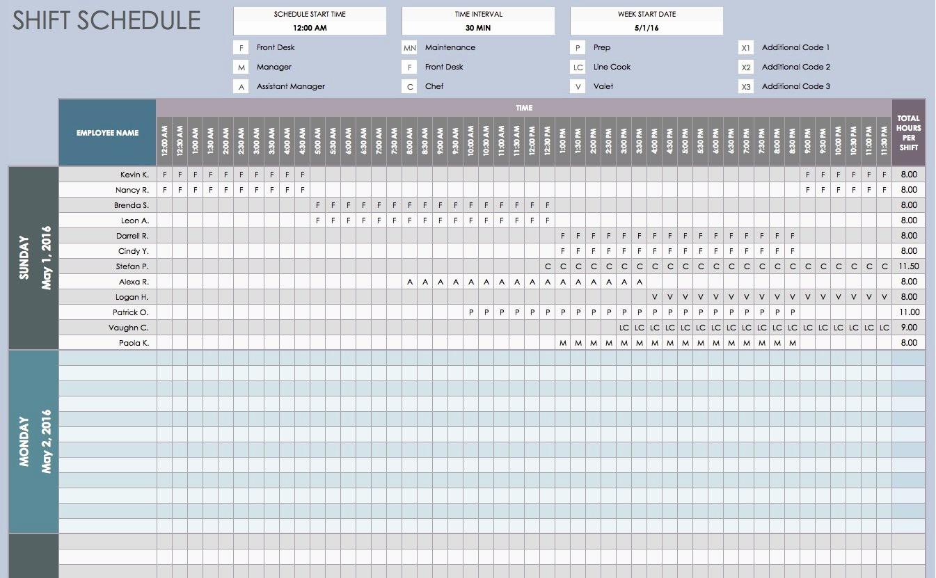 Weekly Work Schedule Template Excel Beautiful Free Daily Schedule Templates for Excel Smartsheet