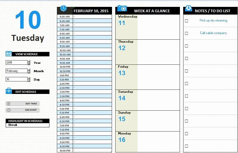 Weekly Work Schedule Template Excel Elegant Ms Excel Daily Work Schedule Template