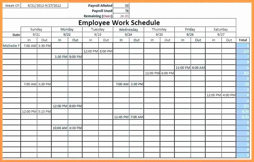 Weekly Work Schedule Template Excel Fresh Work Schedule Template Weekly – Buildingcontractor