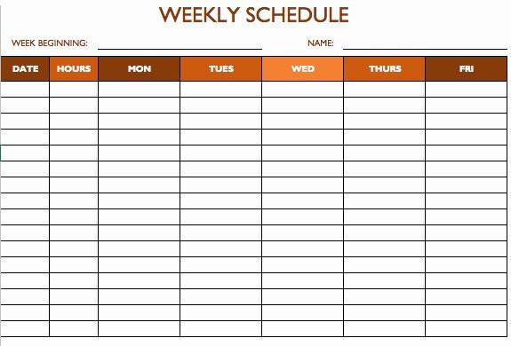 Weekly Work Schedule Template Excel Inspirational Free Work Schedule Templates for Word and Excel