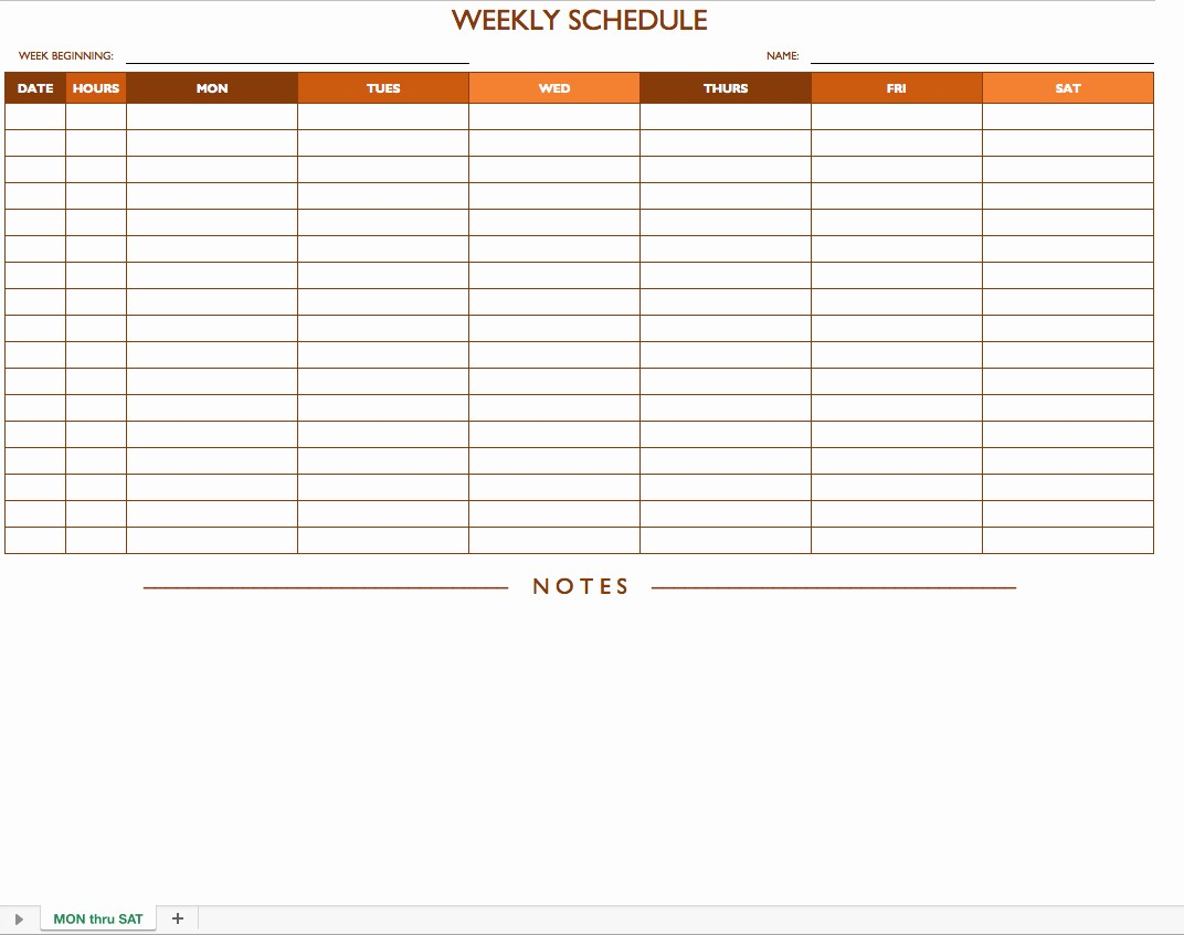 Weekly Work Schedule Template Excel Lovely Free Work Schedule Templates for Word and Excel