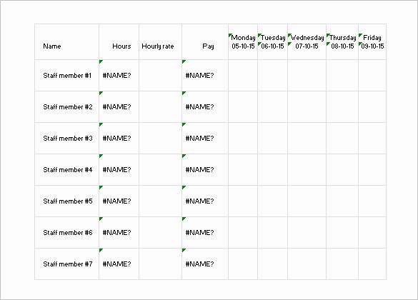 Weekly Work Schedule Template Excel Luxury 17 Daily Work Schedule Templates & Samples Doc Pdf