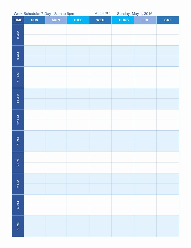Weekly Work Schedule Template Word Beautiful Free Work Schedule Templates for Word and Excel