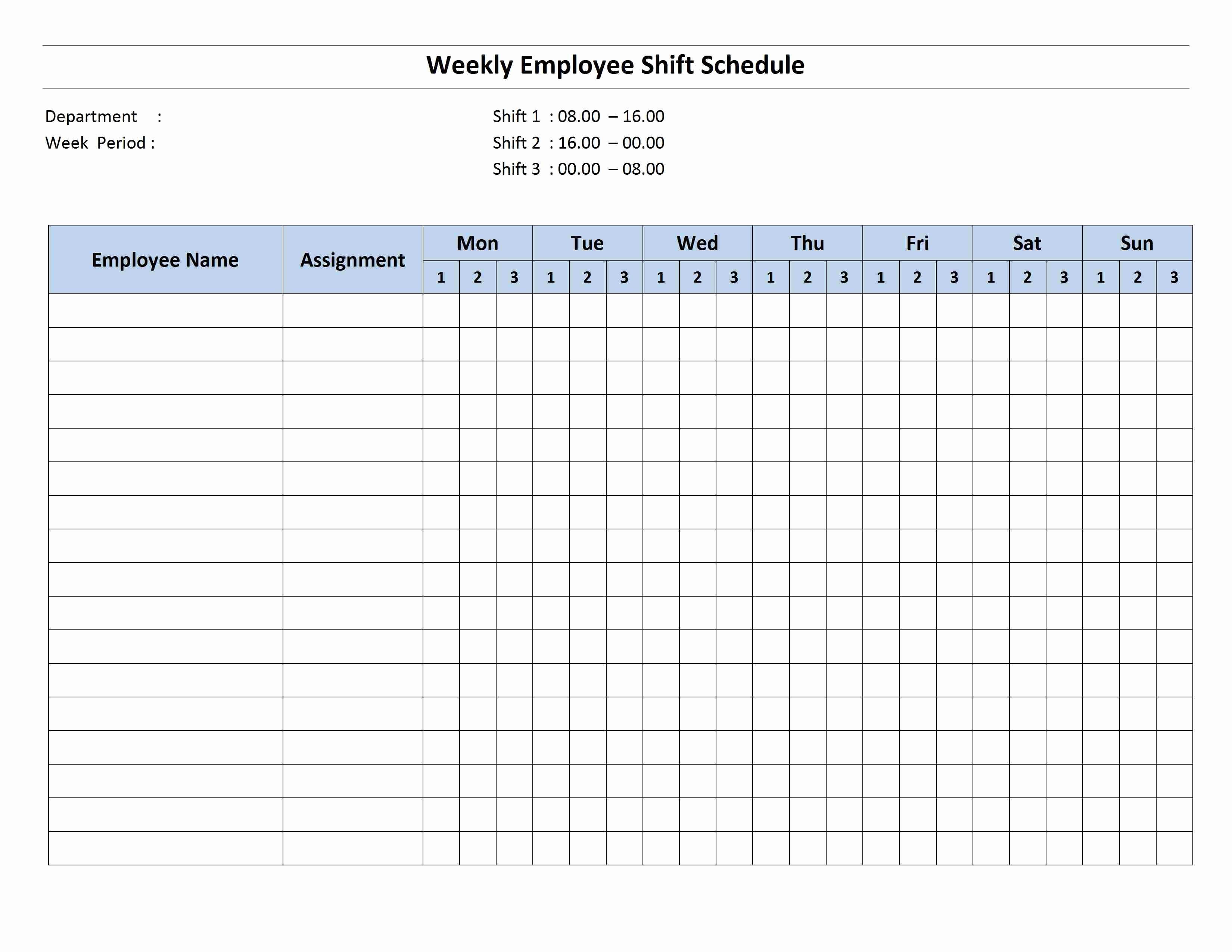 Weekly Work Schedule Template Word Best Of Weekly 8 Hour Shift Schedule