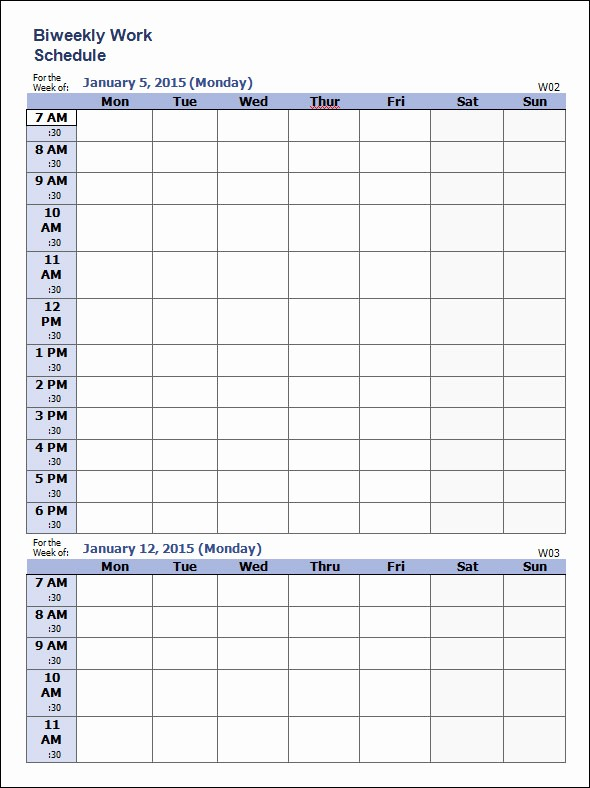 Weekly Work Schedule Template Word Best Of Weekly Schedule Template 9 Download Free Documents In