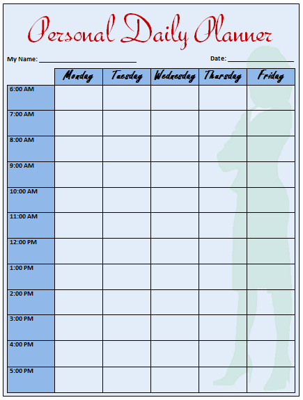 Weekly Work Schedule Template Word Fresh Daily Planner Template that Helps to Keep You On Track