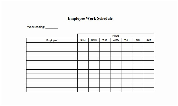 Weekly Work Schedule Template Word Inspirational 10 Employee Schedule Templates Pdf Word Excel