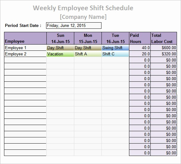 Weekly Work Schedule Template Word Inspirational Work Schedule Templates – 9 Free Word Excel Pdf format