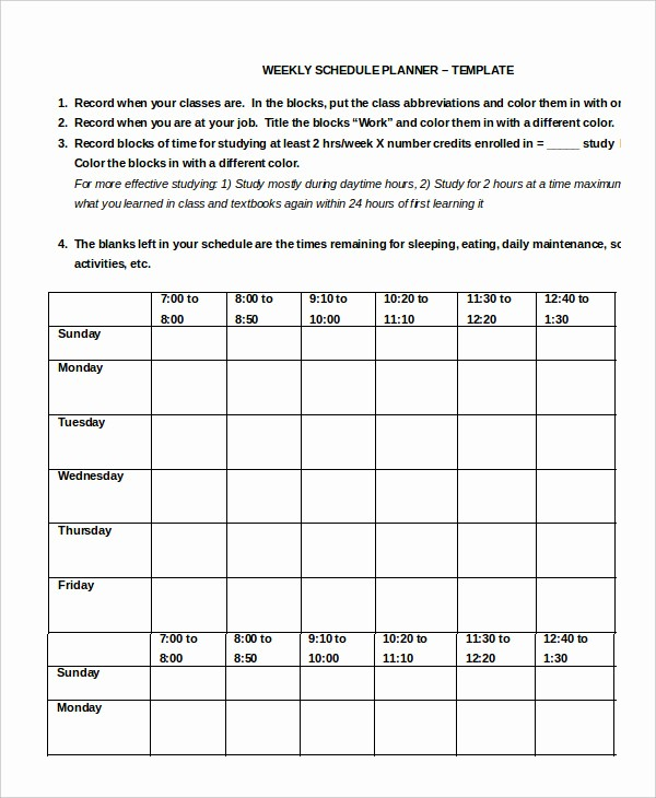 Weekly Work Schedule Template Word Lovely Work Schedule 11 Free Word Excel Pdf Documents